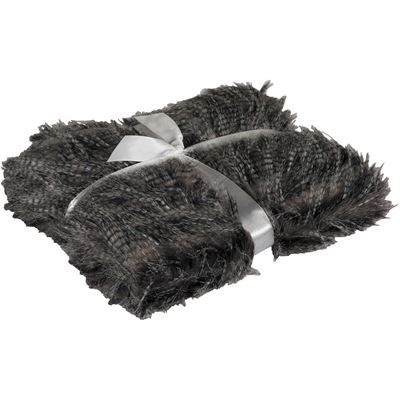 Picture of 40x60 Black Pheasant Faux Fur Throw