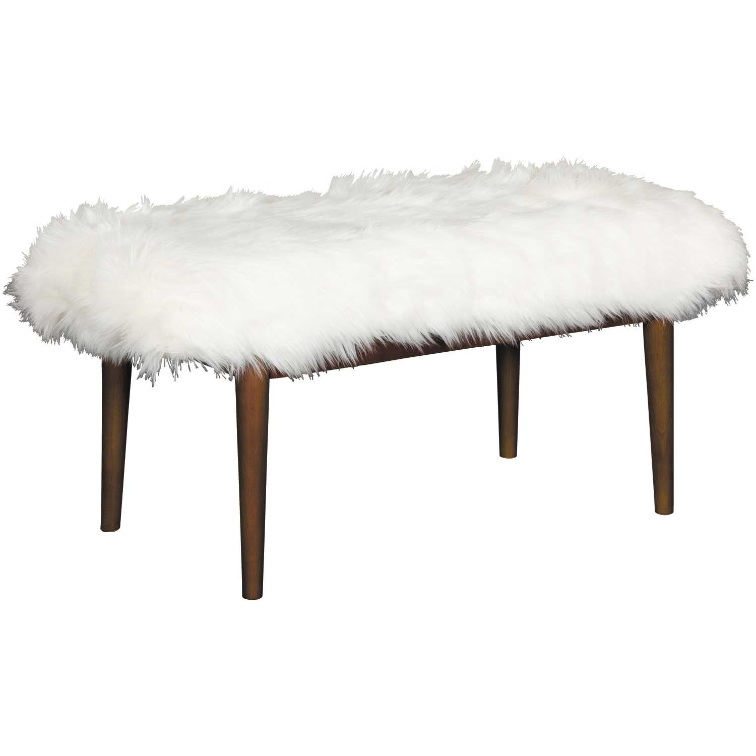 Prime Mongolian Faux Fur Bench Yf 21 Off White Jgw Furniture Squirreltailoven Fun Painted Chair Ideas Images Squirreltailovenorg
