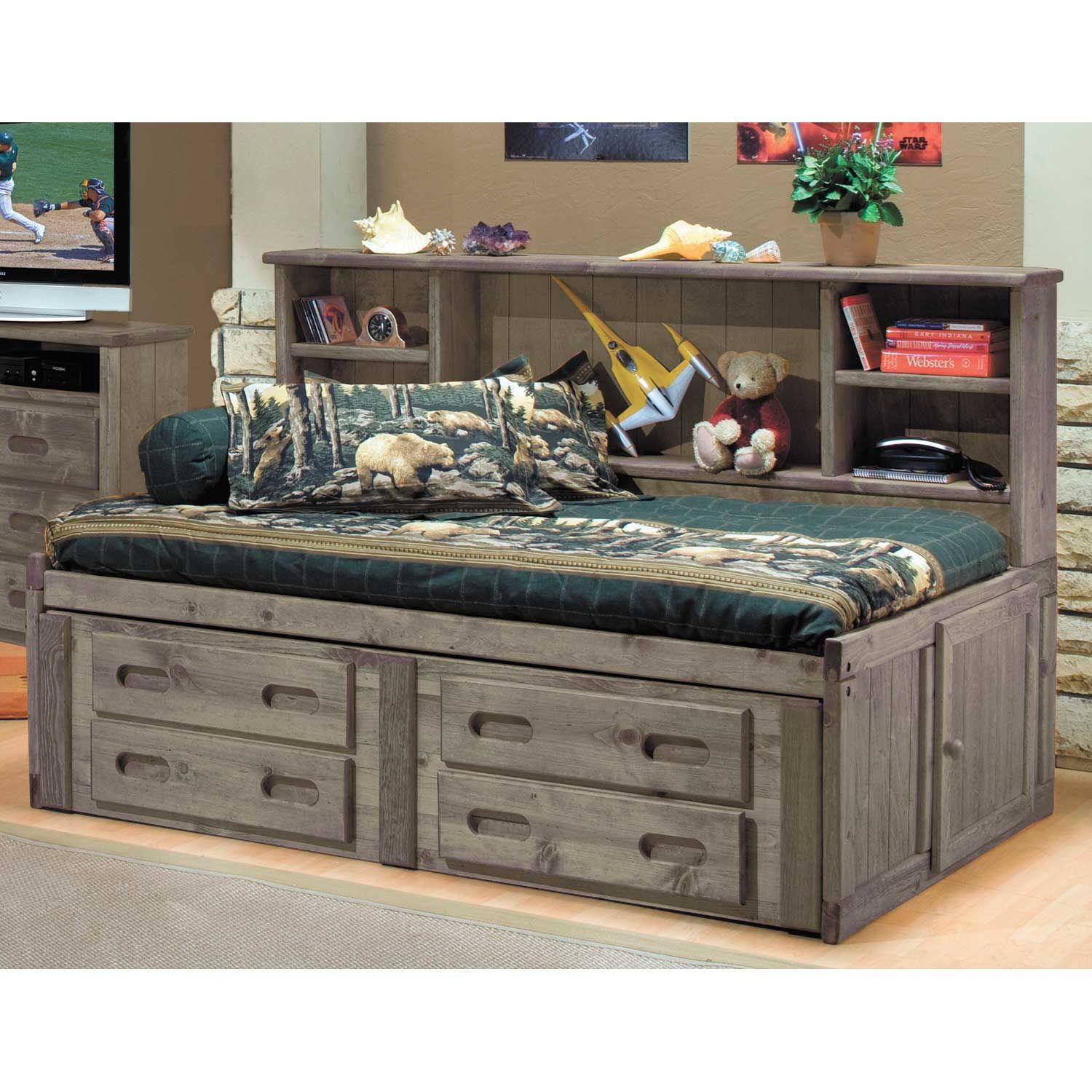 Picture of Cheyenne Driftwood Full Roomsaver Capitain's Bed
