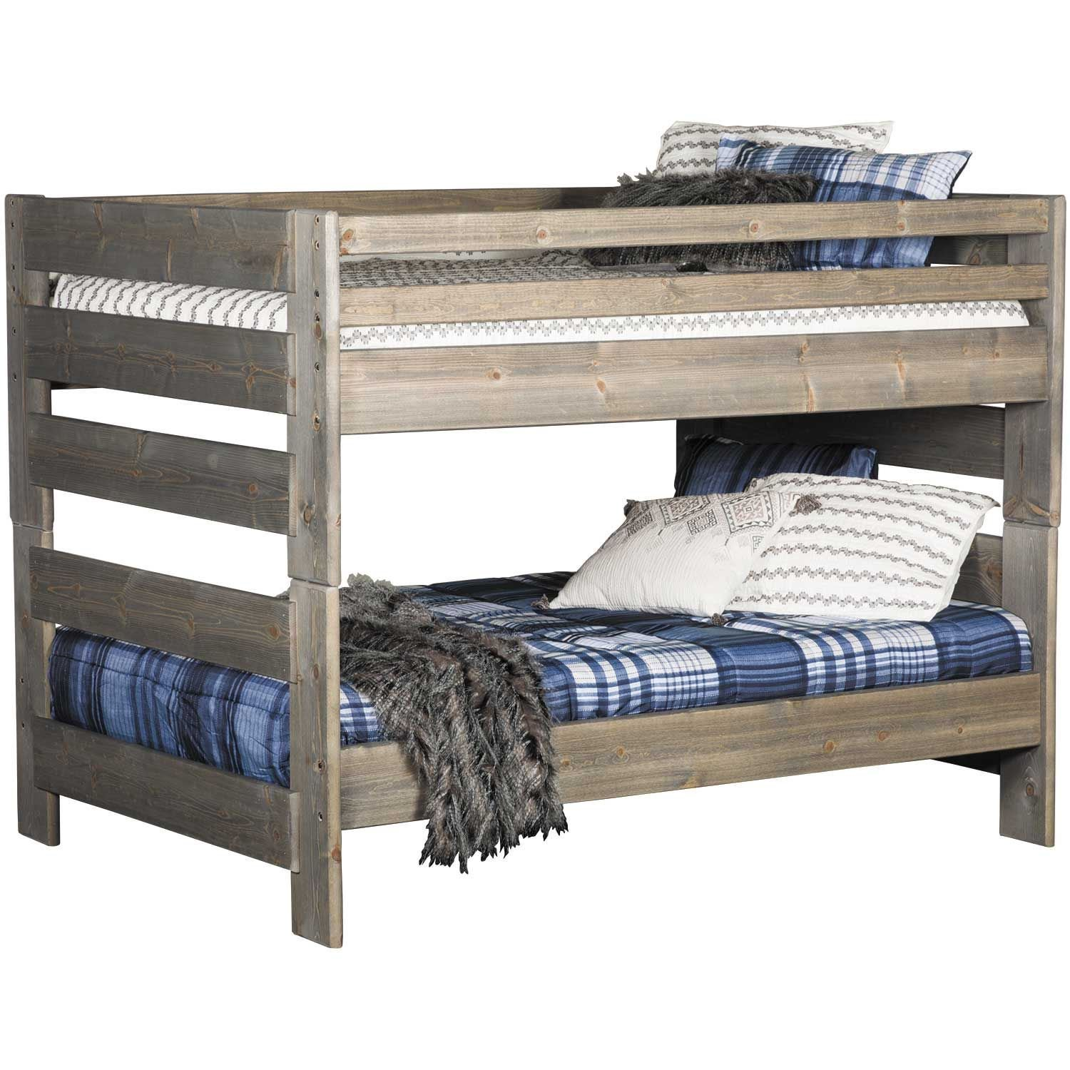 Cheyenne Driftwood Full Over Full Bunk Bed Dw 4144 4145