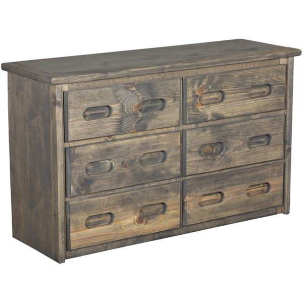 Picture of Cheyenne Driftwood 6 Drawer Dresser