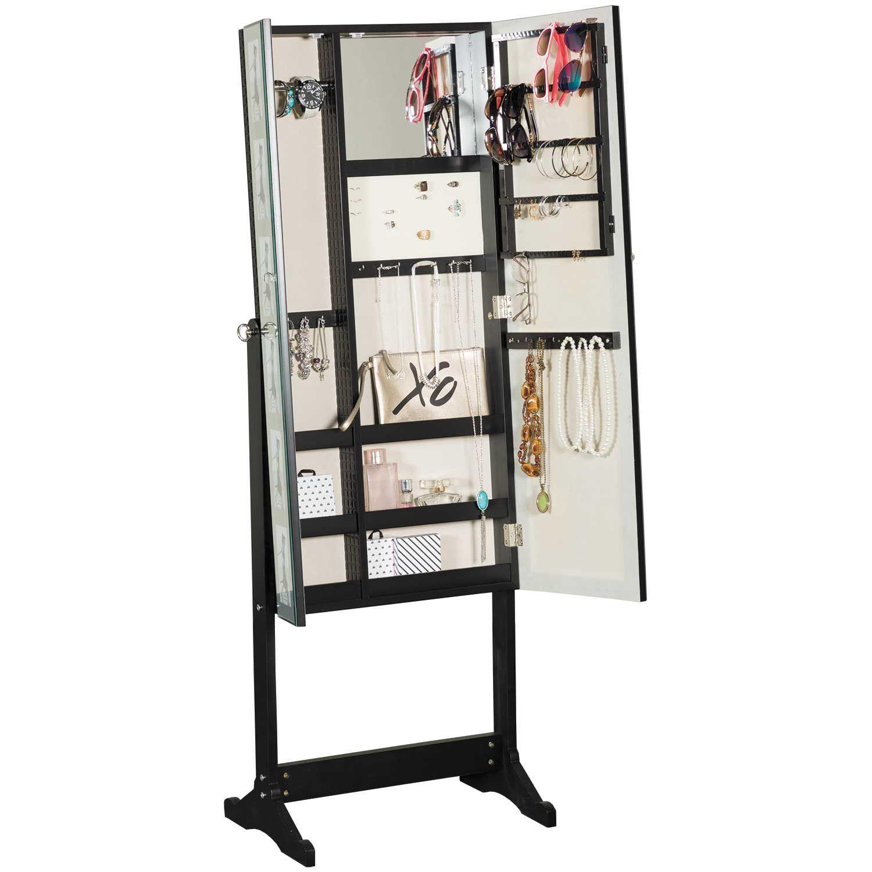 Picture of Black Lattice Jewelry Storage Mirror
