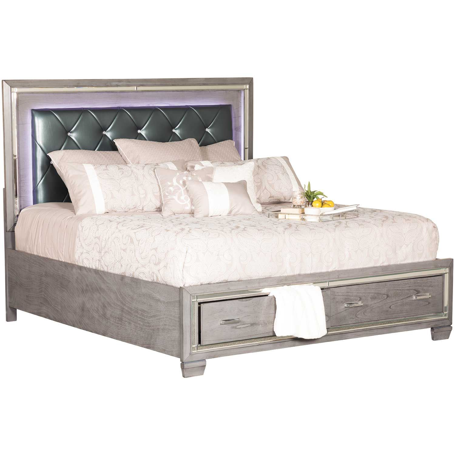 Picture of Titanium King Storage Bed