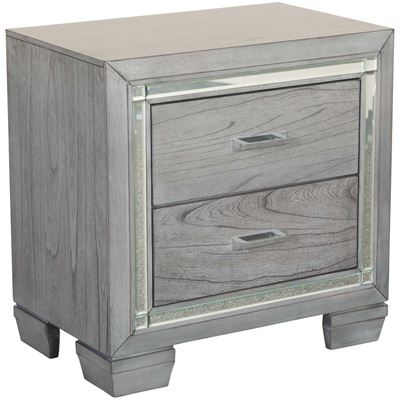 Picture of Titanium 2 Drawer Nightstand