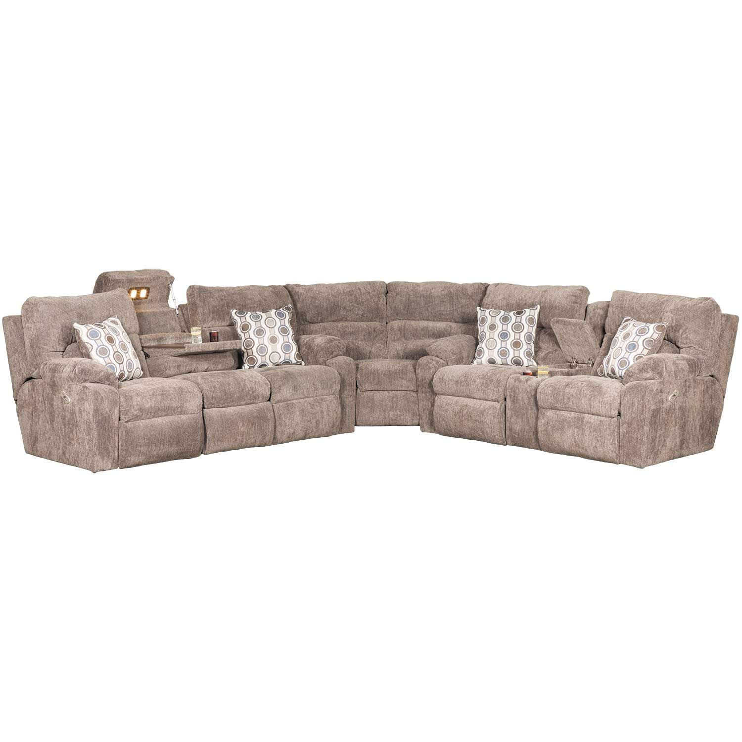 Tribute 3 Piece Power Reclining Sectional with Adjustable Headrests