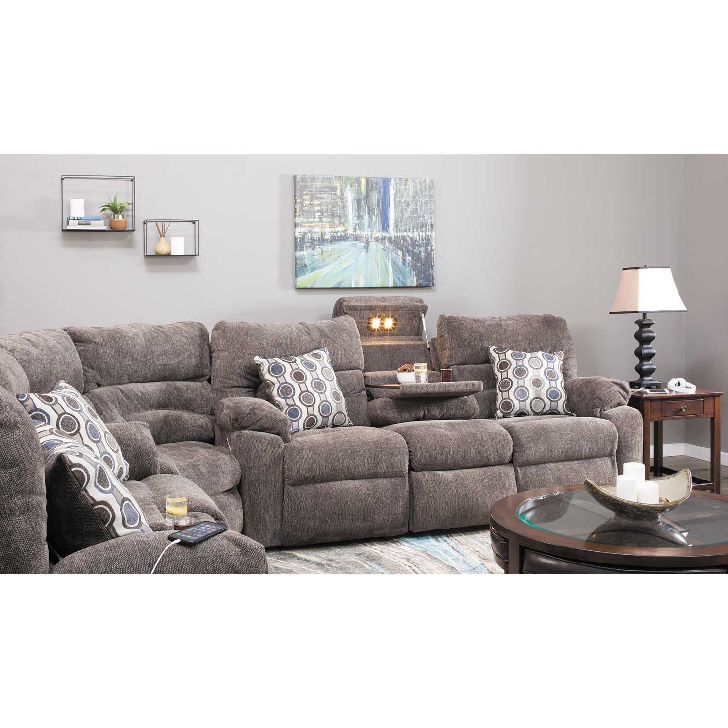 Picture of Tribute 3 Piece Power Reclining Sectional with Adjustable Headrests