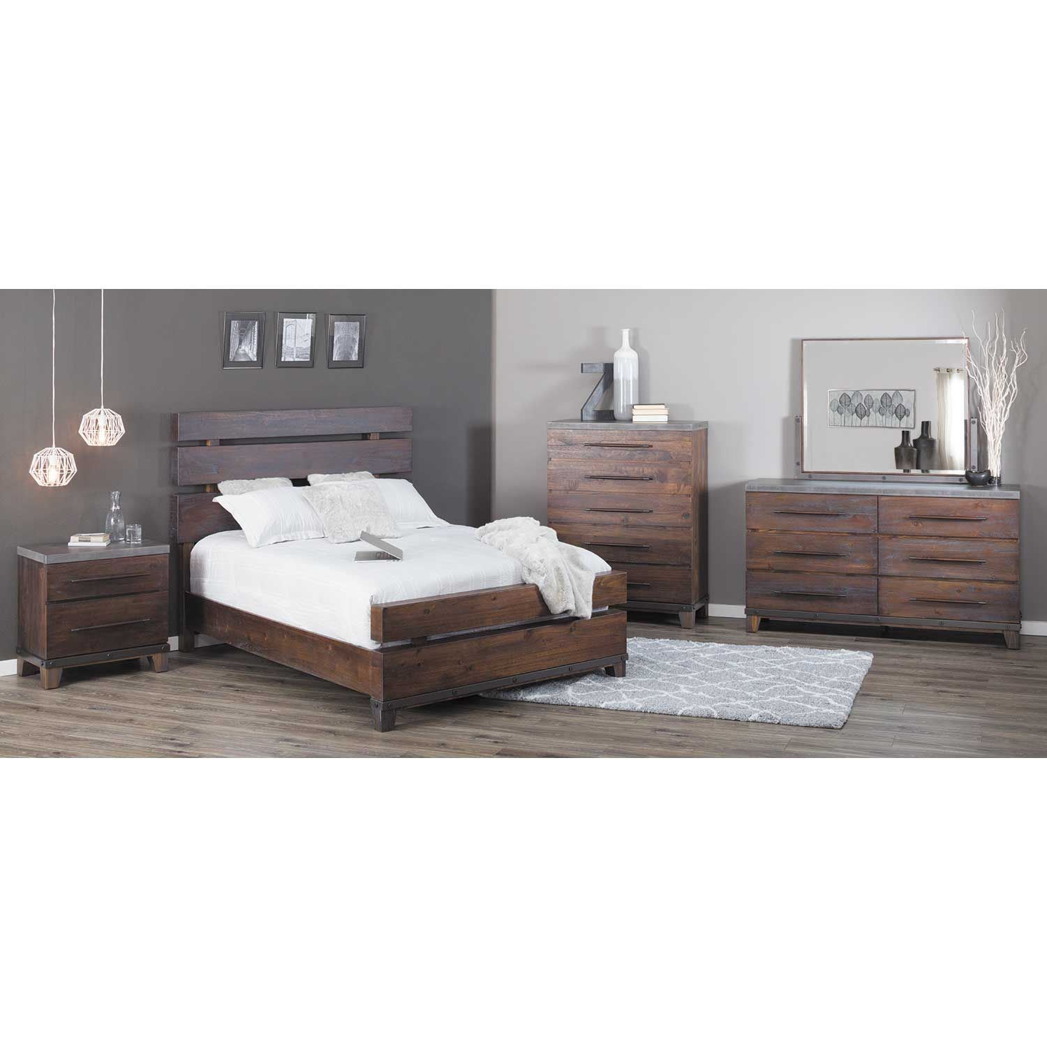 Picture of Forge Queen Panel Bed