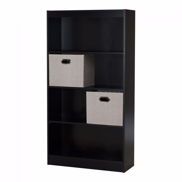 Picture of Axess 4-Shelf Bookcase W/ 2 Fabric Storage Baskets