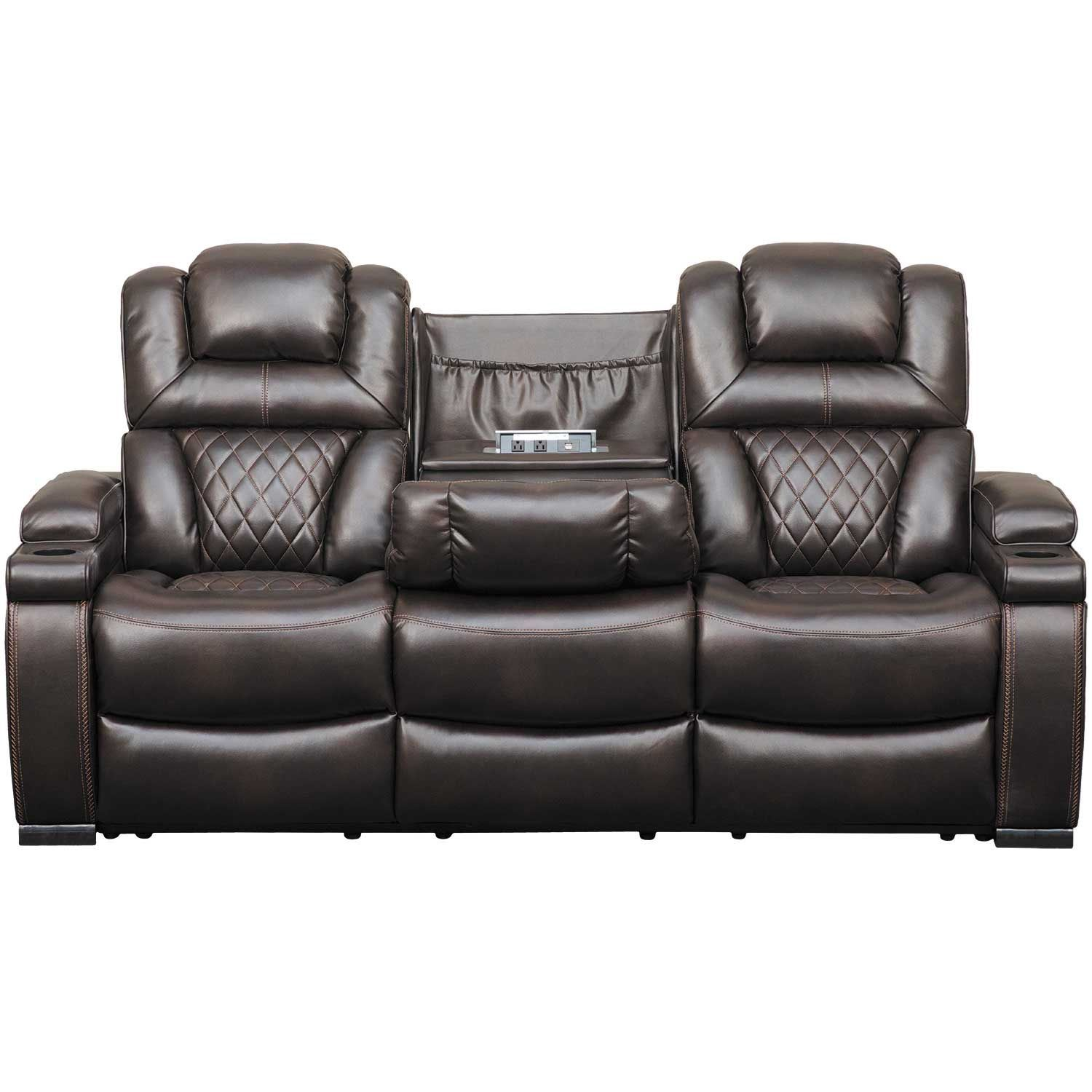 Warnerton Power Reclining Sofa With Drop Table 7540715 Ashley