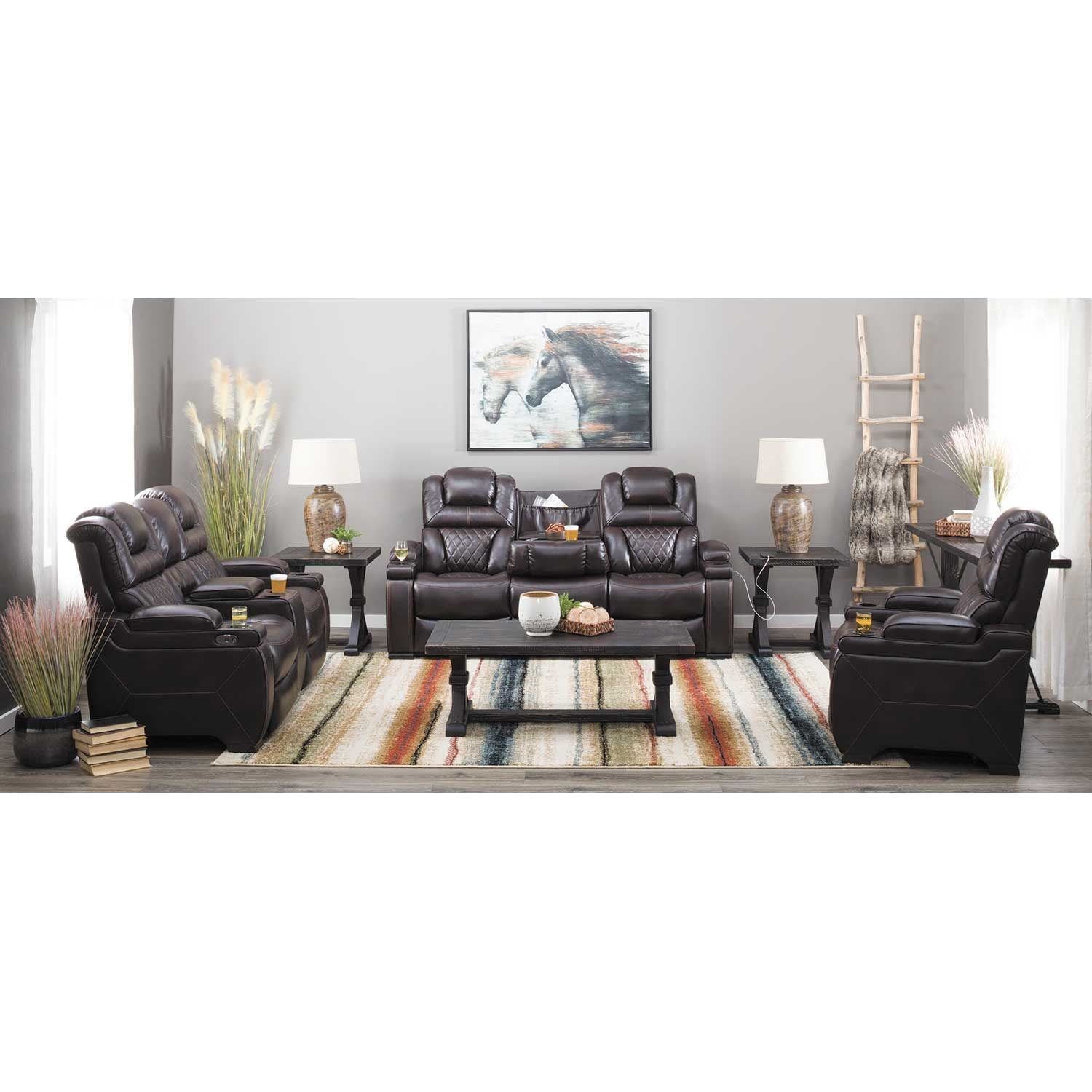 Picture of Warnerton Power Reclining Sofa with Drop Table