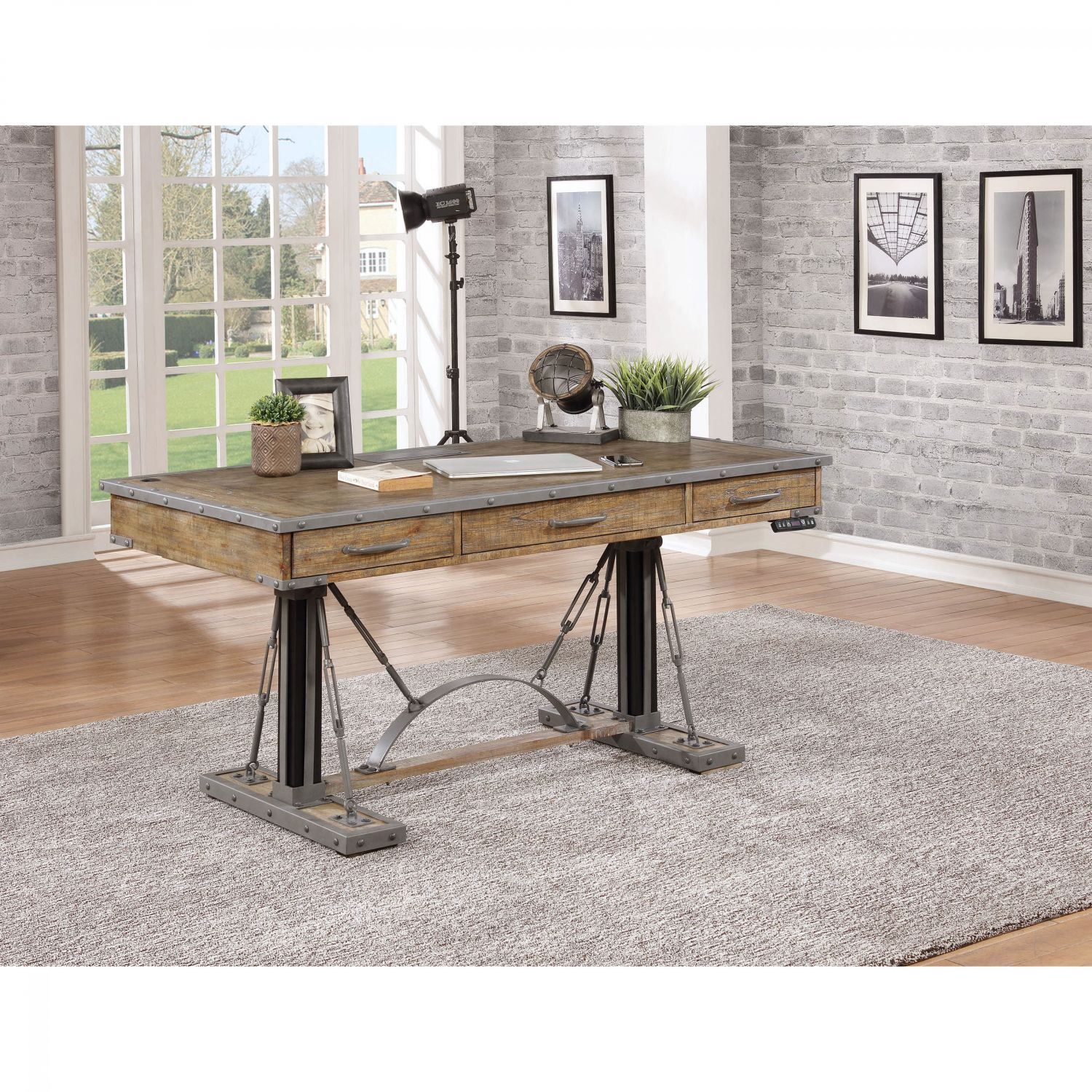 Artisan Revival 60-Inch Sit and Stand Desk