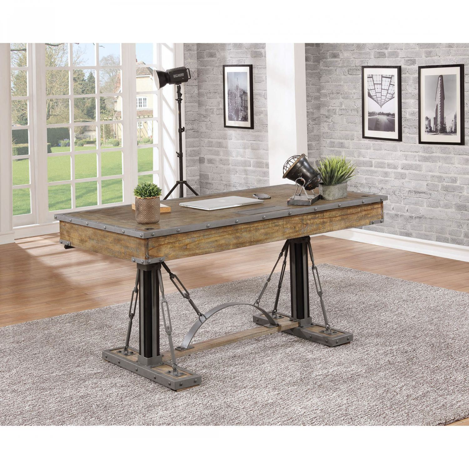 Groovy Artisan Revival 60 Inch Sit And Stand Desk Interior Design Ideas Clesiryabchikinfo