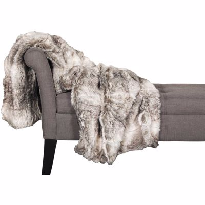 Picture of Grey Fox Fur 47x59 Blanket