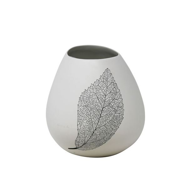 Picture of White Vase With Leaf Design