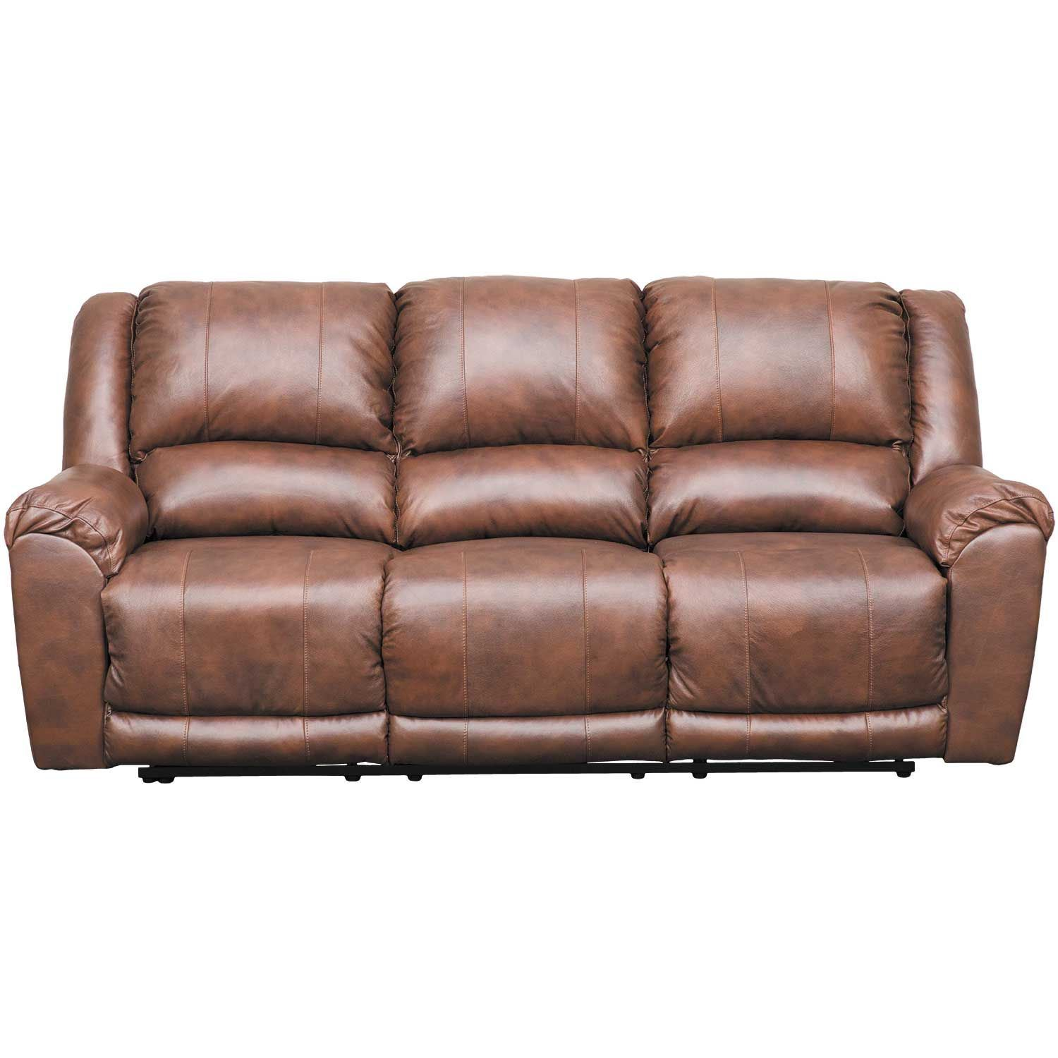 Ashley Brown Leather Sofa: Persiphone Brown Leather Reclining Sofa