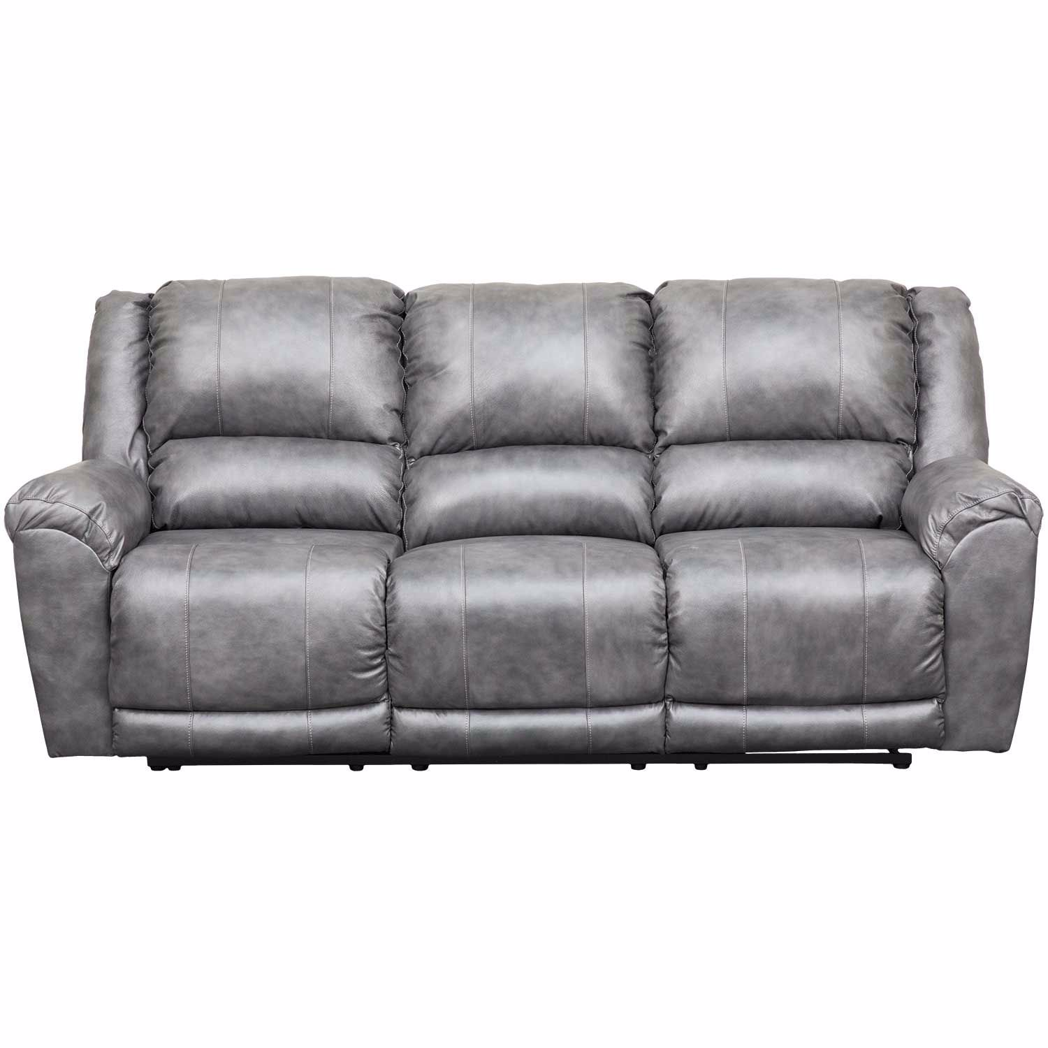 Persiphone Charcoal Leather Power Reclining Sofa