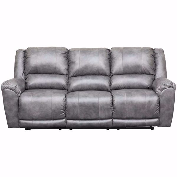 Picture of Persiphone Charcoal Leather Power Reclining Sofa