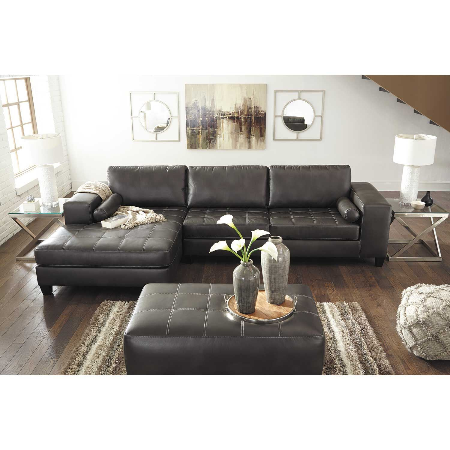 Ashley Furniture Sectionals: Nokomis 2 Piece Sectional With RAF Chaise