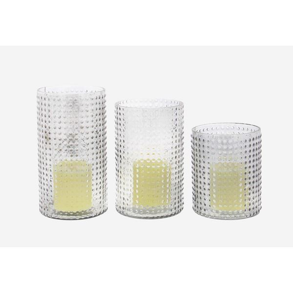 Picture of Set 3 Glass Candle Holders