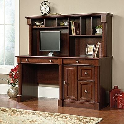 Picture of Palladia Computer Desk And Hutch Select Cherry *