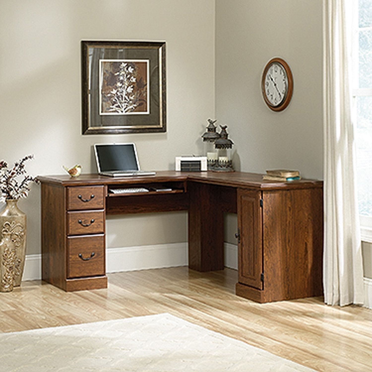 Picture of Orchard Hills Cornr Computer Desk Milled Cherry *