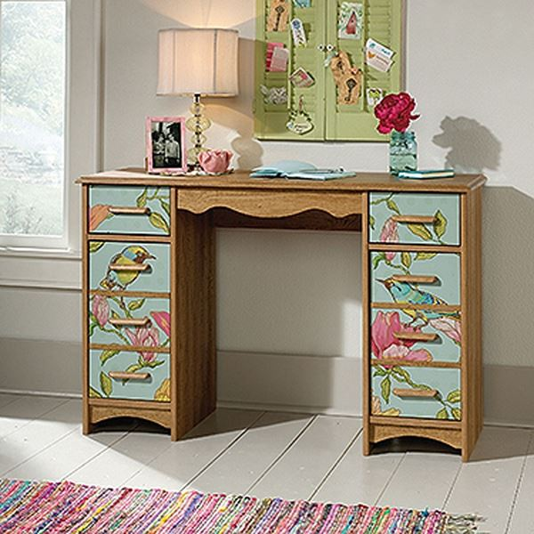 Picture of Eden Rue Desk Scribed Oak * D