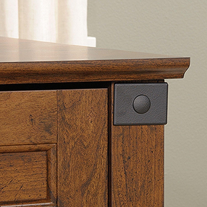 Picture of Carson Forge Corner Computer Desk Washington Cherr