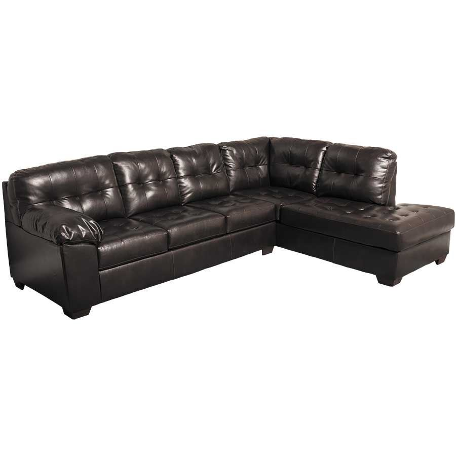 Marvelous Alliston Chocolate 2Pc Sectional W Raf Chaise Inzonedesignstudio Interior Chair Design Inzonedesignstudiocom