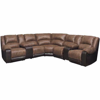 Picture of Nantahala Coffee 7 Piece Reclining Sectional