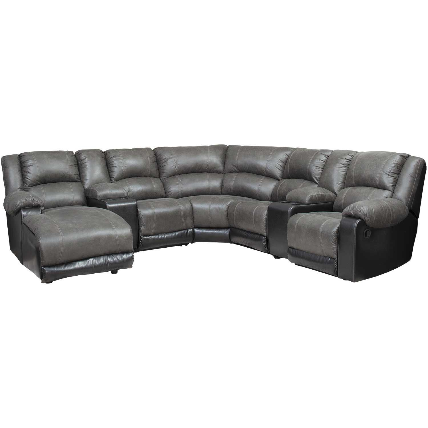 Picture of Nantahala Slate 7 Piece Reclining Sectional with LAF Chaise