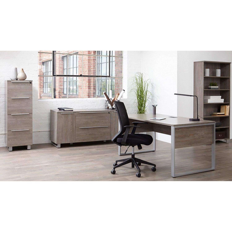 "Picture of Manhattan Open 63"" Modular Desk, Grey"