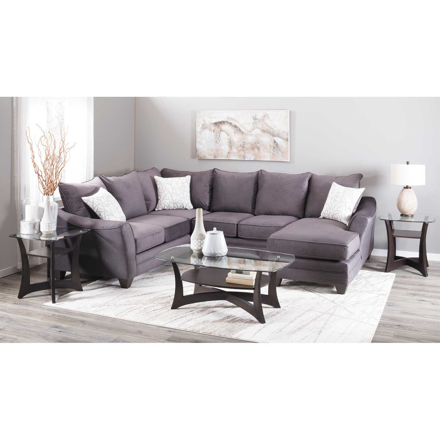 Picture of Flannel Seal Armless Loveseat