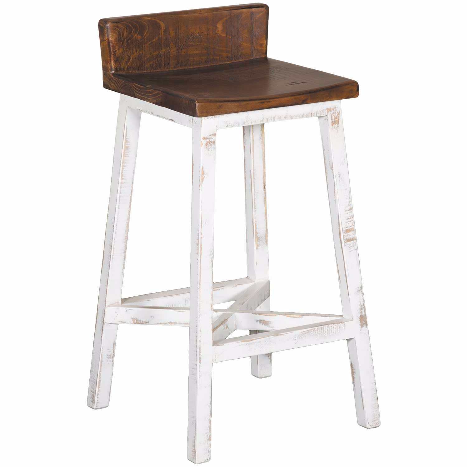 Pueblo White 30 Quot Barstool Ifd360bs30 W Artisan Home By