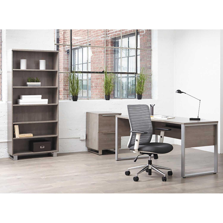 Picture of Manhattan Crescent Return Desk, Grey