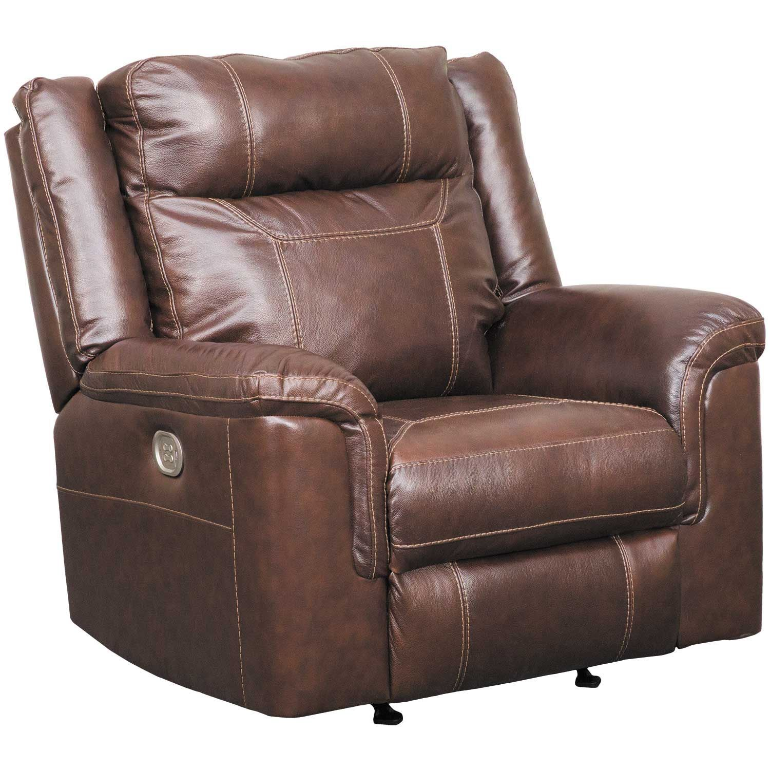 Pleasant Wyline Leather Power Recliner With Adjustable Headrest Pdpeps Interior Chair Design Pdpepsorg