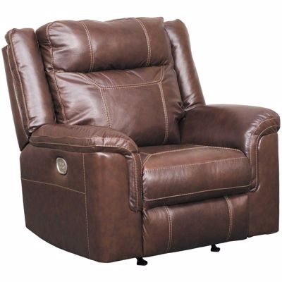 Picture of Wyline Leather Power Recliner with Adjustable Headrest