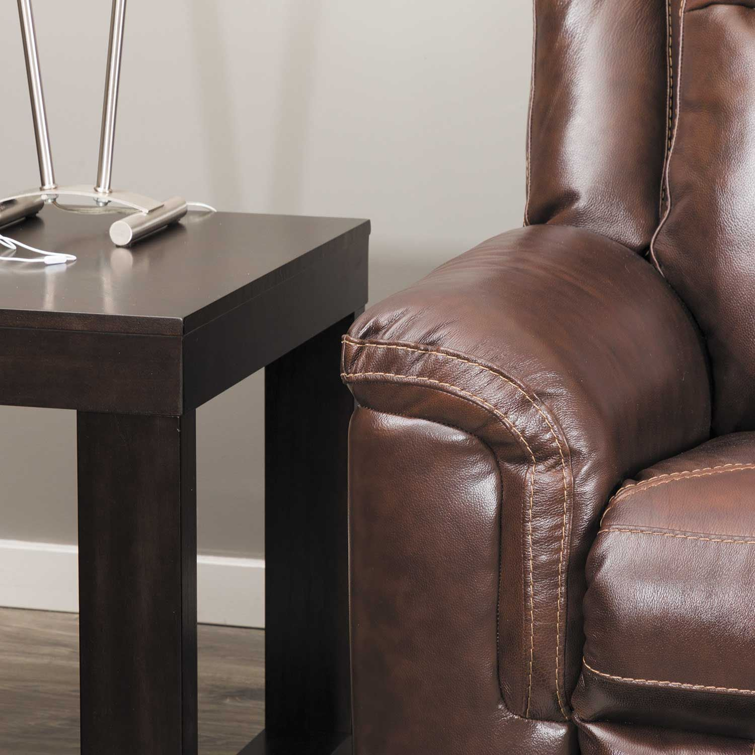 Groovy Wyline Leather Power Recliner With Adjustable Headrest Pdpeps Interior Chair Design Pdpepsorg