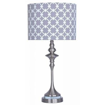 Picture of Nickel W/Gray Shade Table Lamp