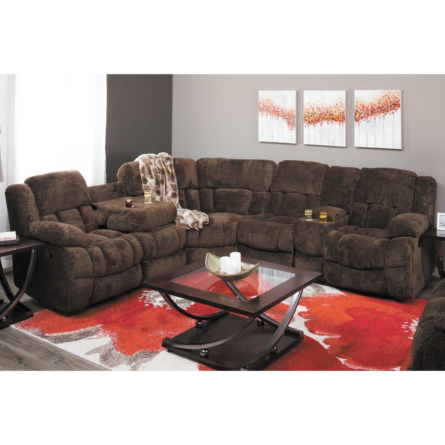 Picture of Eldon 5 Piece Power Reclining Sectional