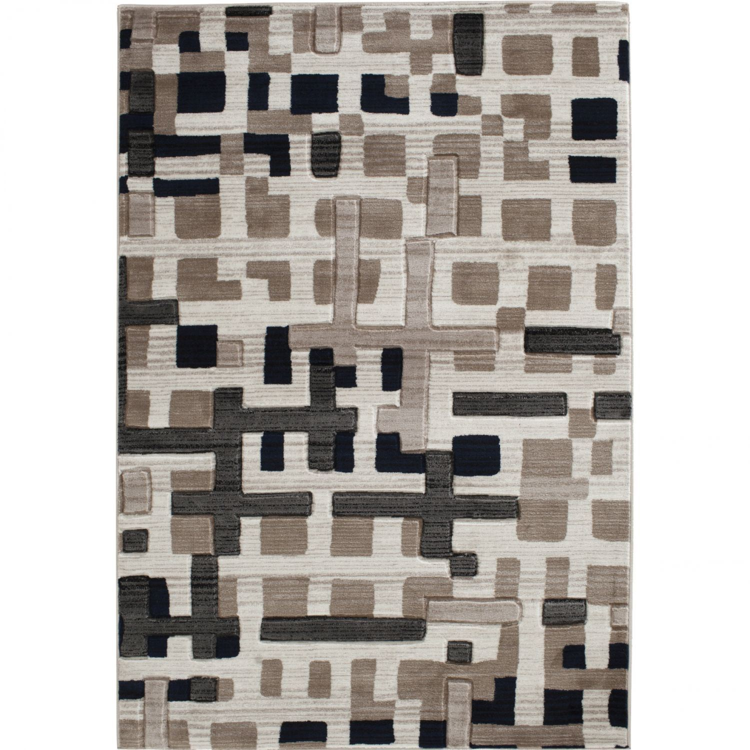 Picture of Apex Pirro Beige White 5x7 Rug