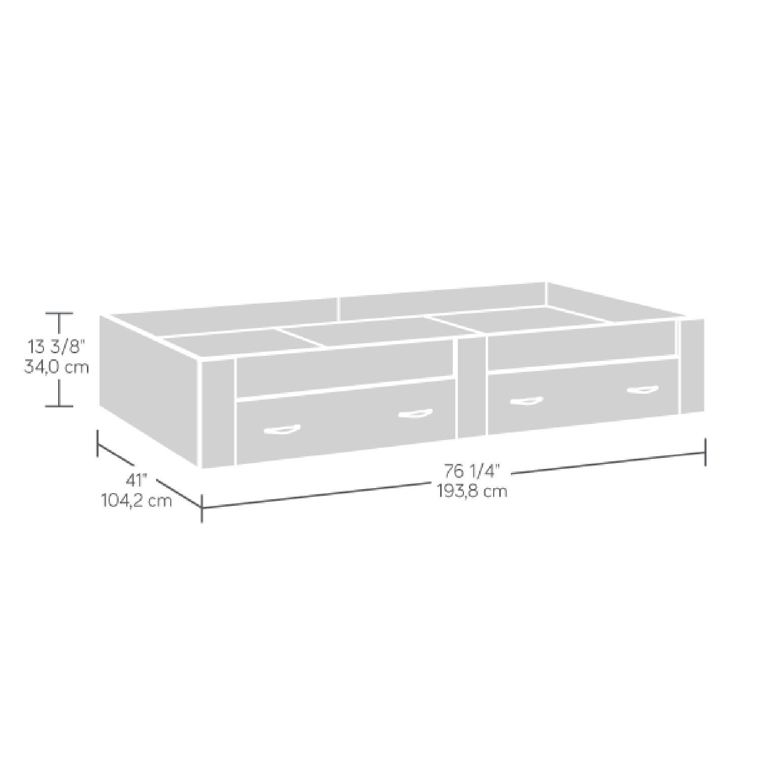 Picture of Beginnings Twin Platform Bed Soft White * D