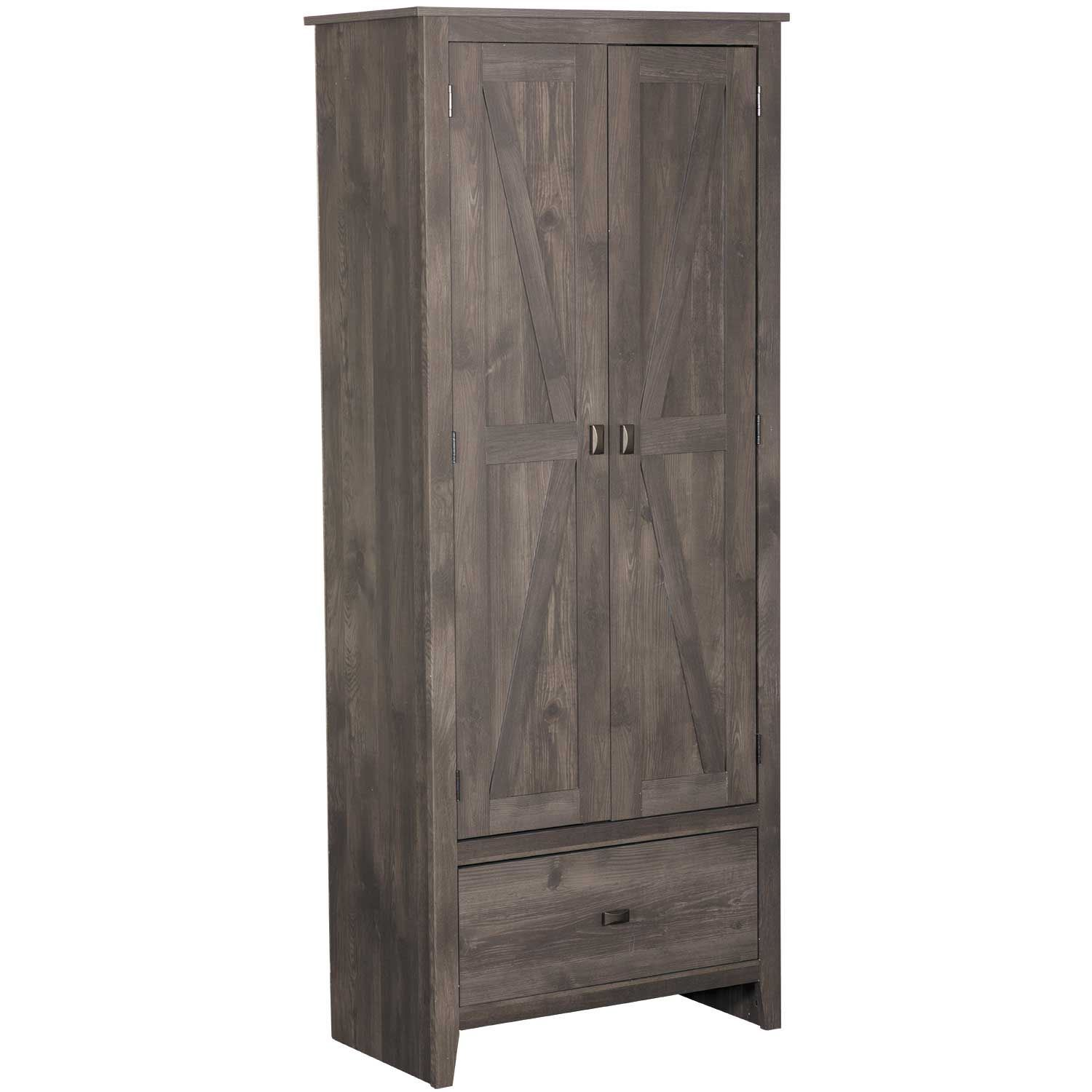 Amazing Farmington Gray Storage Cabinet Interior Design Ideas Ghosoteloinfo