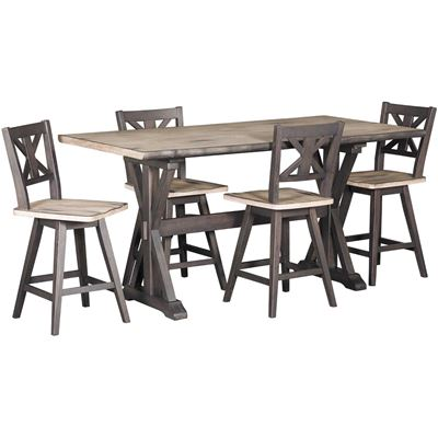 Picture of Urban Farmhouse 5 Piece Counter Height Set