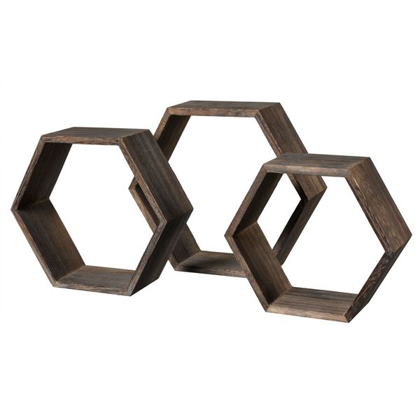 Picture of Set 3 Hex Shelves