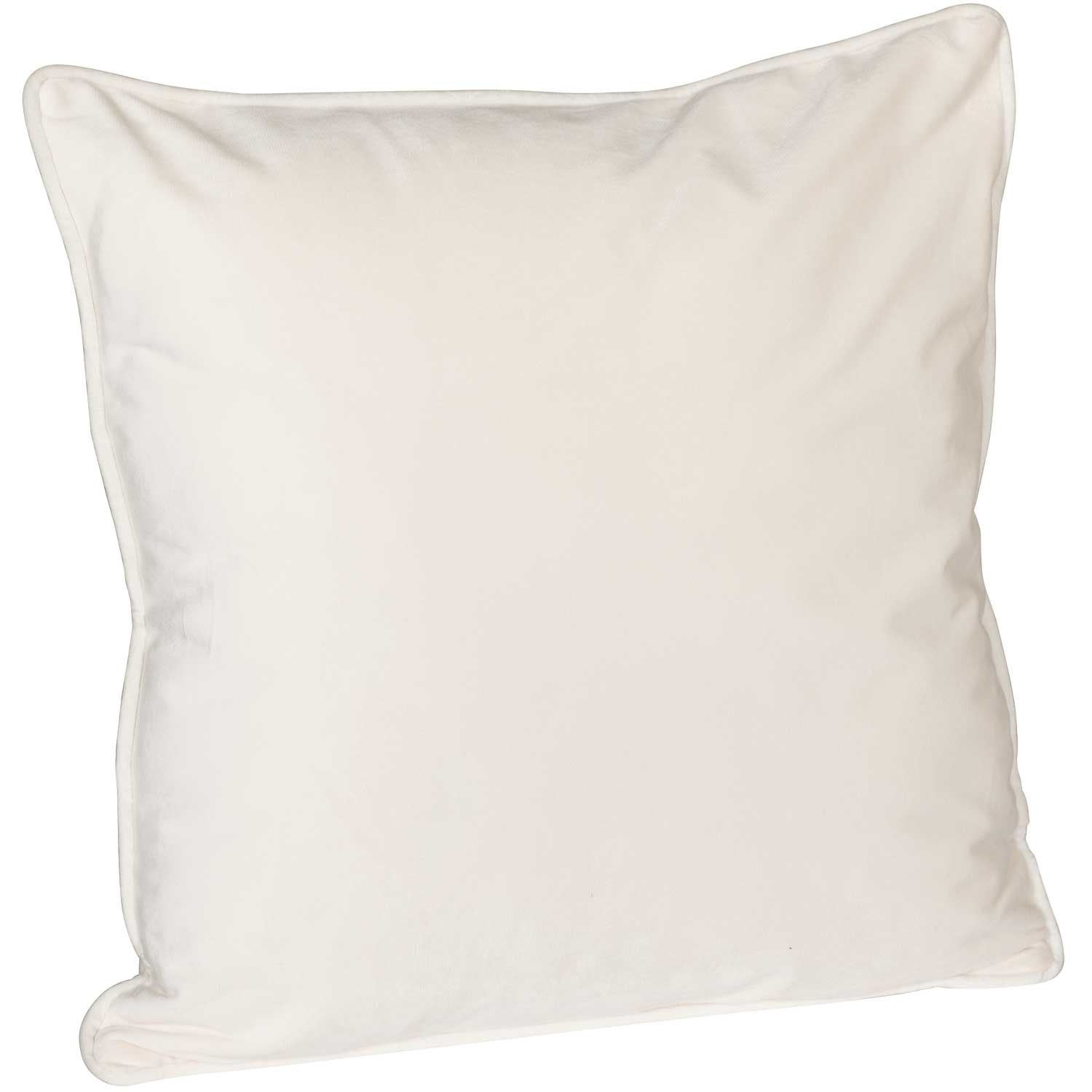 Picture of 18X18 Cream Velvet Decorative Pillow