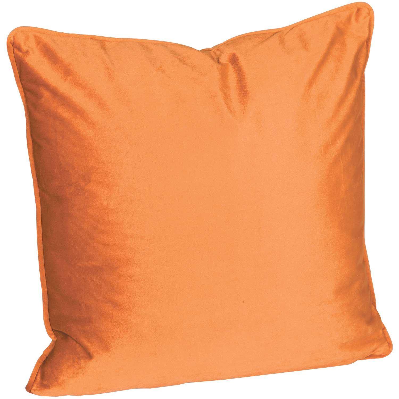 18x18 Rust Velvet Decorative Pillow
