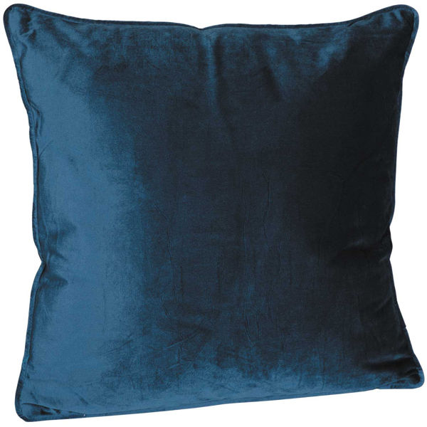 Picture of 18X18 Navy Velvet Decorative Pillow