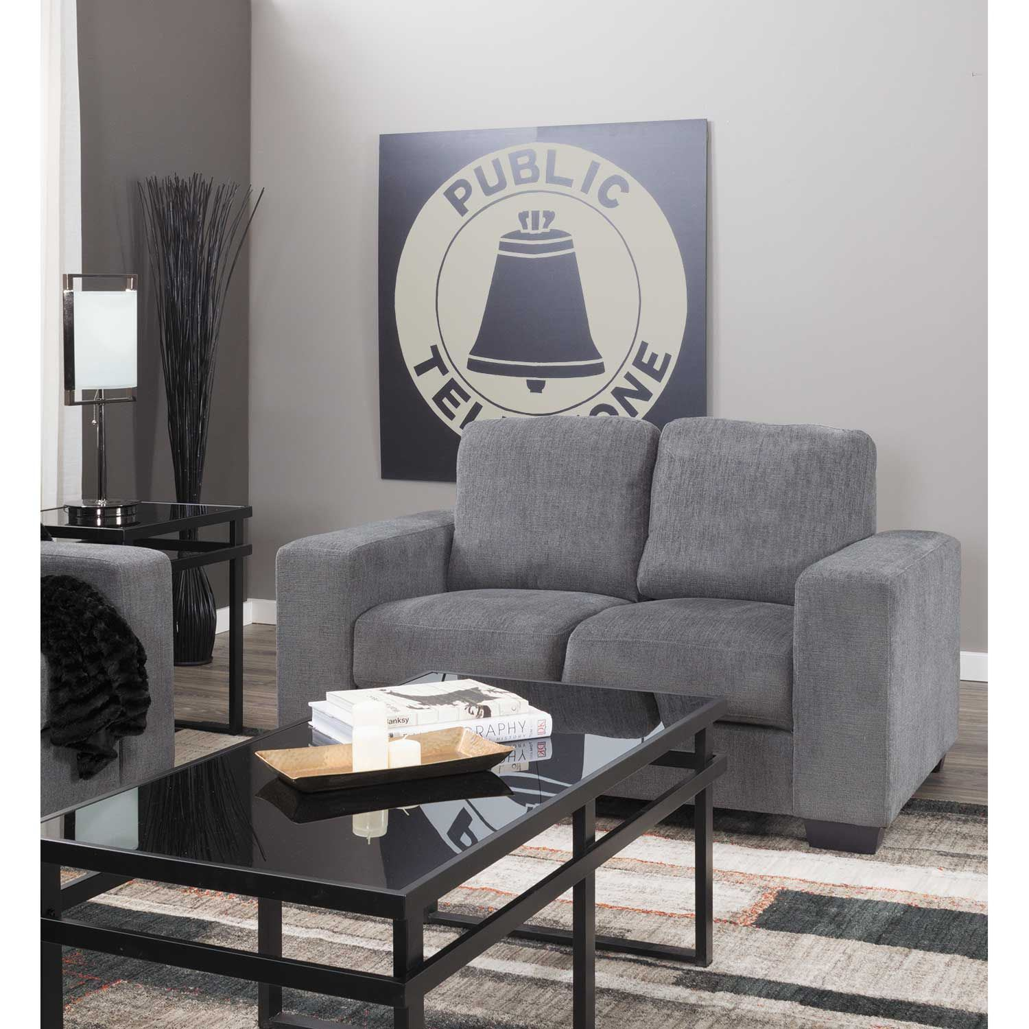 Charleston Dark Gray Sofa