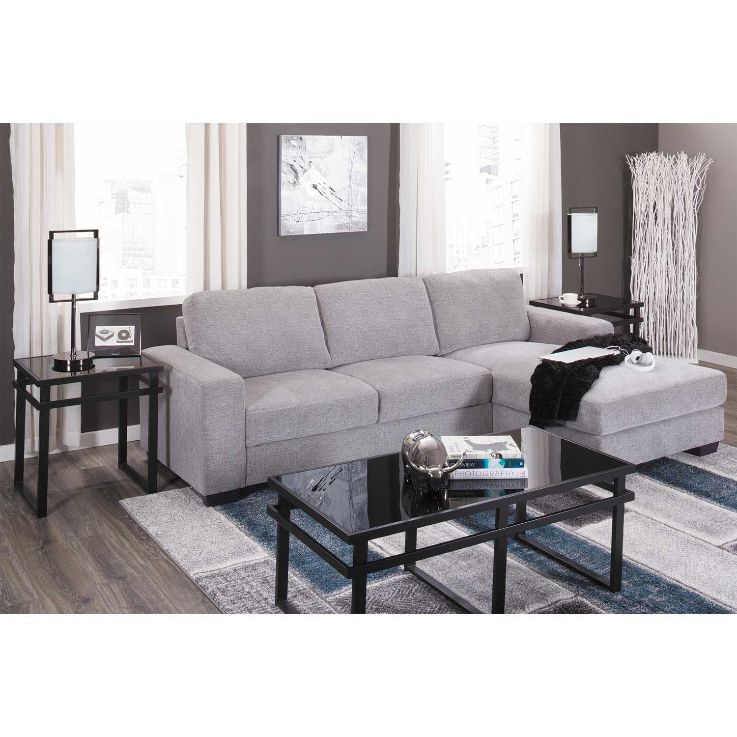 Picture of Charleston Light Gray 2 Piece Sectional
