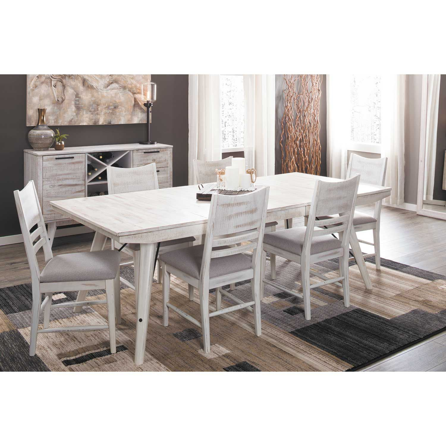 Picture of Modern Rustic Trestle Table